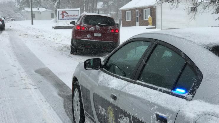 SHP car in snow