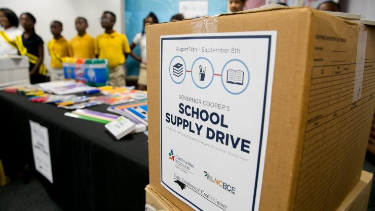Governor's School Supply drive
