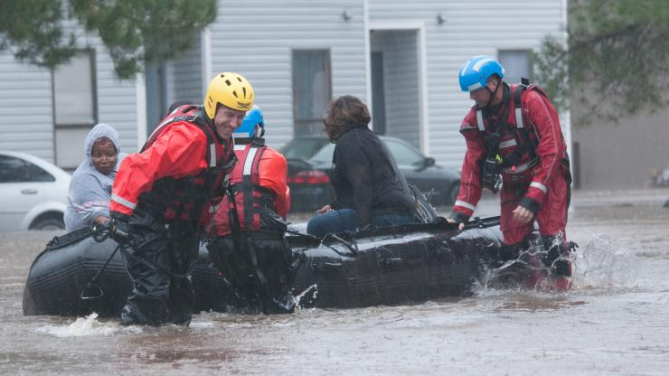Swift Water Rescue Teams Have Rescued Numerous Rescues Because of Hurricane Matthew