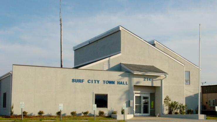 The old Surf City Town Hall that was condemned after Hurricane Florence.