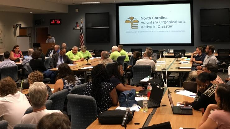 NC Emergency Management hosted a meeting and recognition of the Volunteer Organizations Active in Disaster at the Joint Forces Headquarters in Raleigh this summer.