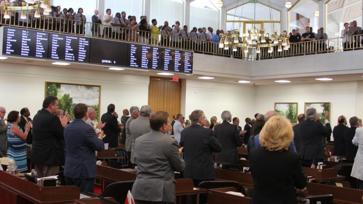 House chamber following Callahan vote