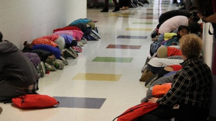 Nc Dps Students And Adults Practice Tornado Drills Wednesday