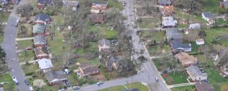 Air photo of Greensboro tornado damage