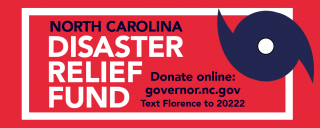 Disaster Relief Fund Red Banner