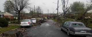 Damage on Greensboro Street