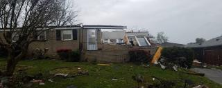 Damaged home in Greensboro