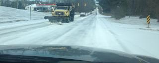 Winter weather - show plow oncoming