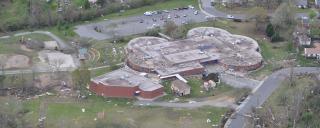 Damaged school