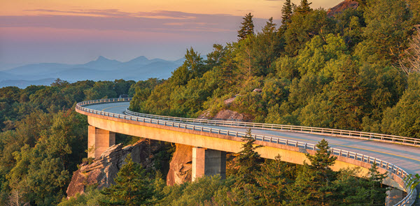 viaduct in the blue ride mountains