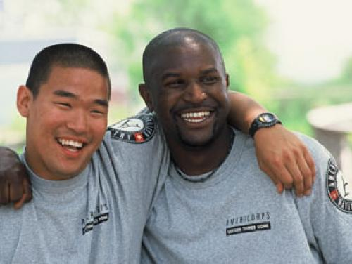 Two young male AmeriCorps volunteers