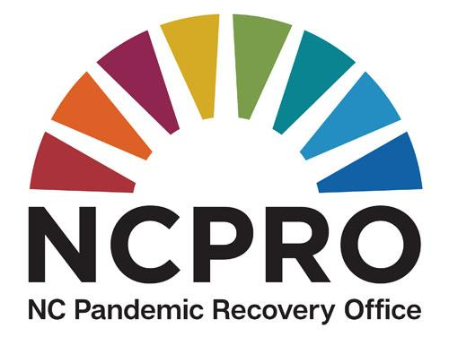 Rainbow Bridge Logo and text reads North Carolina Pandemic Recovery Office (NCPRO)