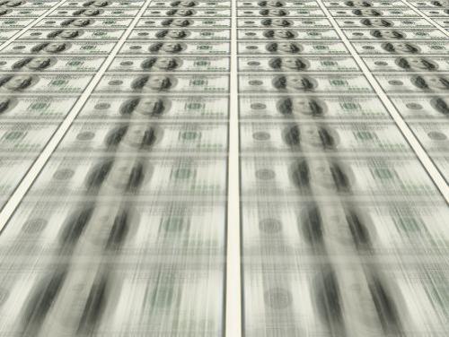 Money being printed