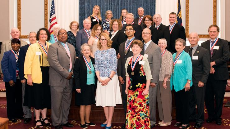 2019 Governor's Volunteer Medallion Award Winners