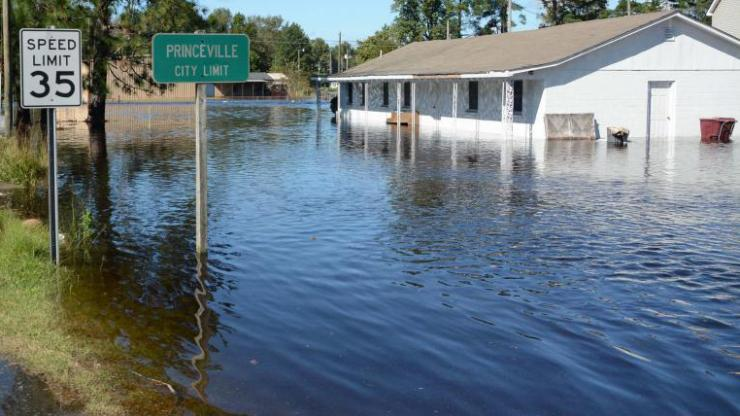 Flooded home in Princeville, NC