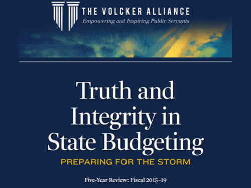 Volcker Alliance report on state budgeting