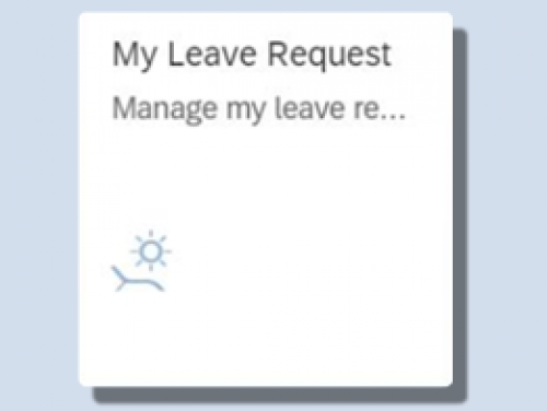 Click to view My Leave Requests video