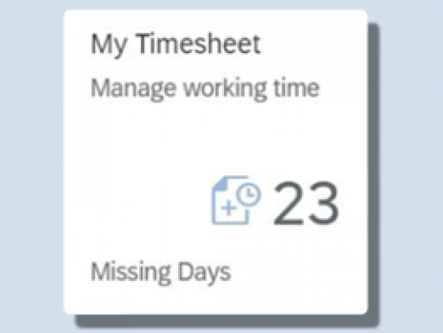 Click to view My Timesheet video