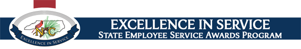 State employee service awards logo