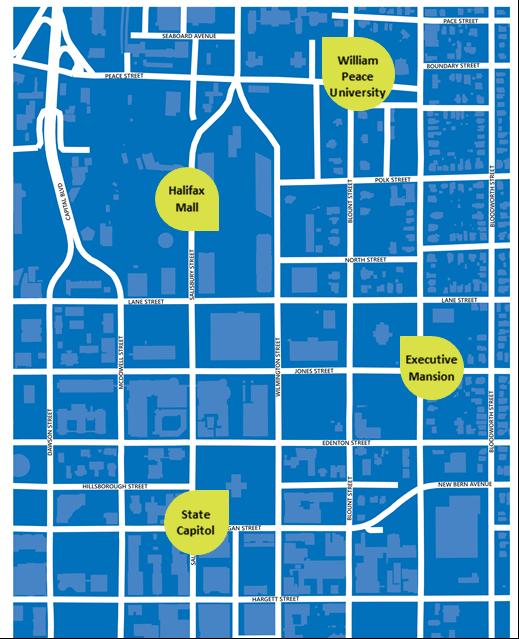 Map of walk smart area.