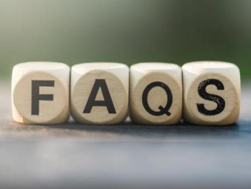 Picture of wood blocks spelling out FAQs