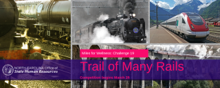 collage of images of trains