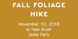 Haw River State Park – Fall Foliage Hike – November 10, 2018