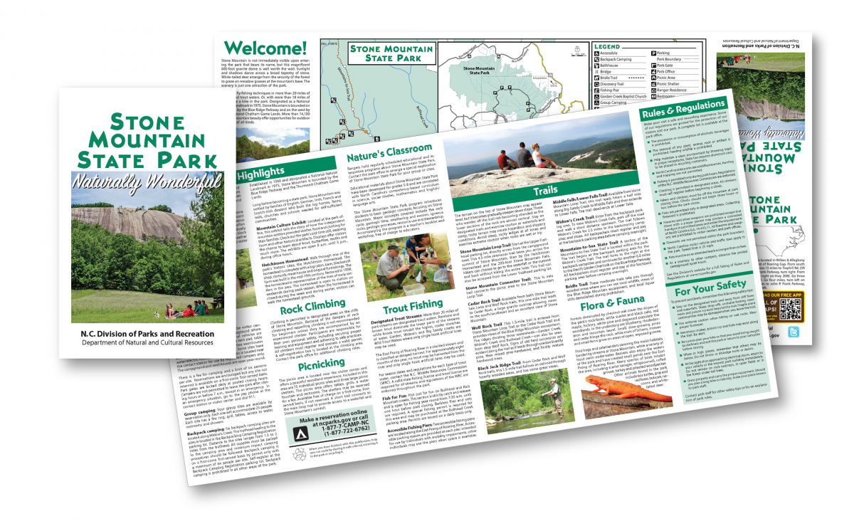 Example of park brochure
