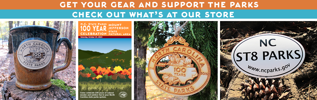 Park Store merchandise includes clothing, ornaments, mugs, and more