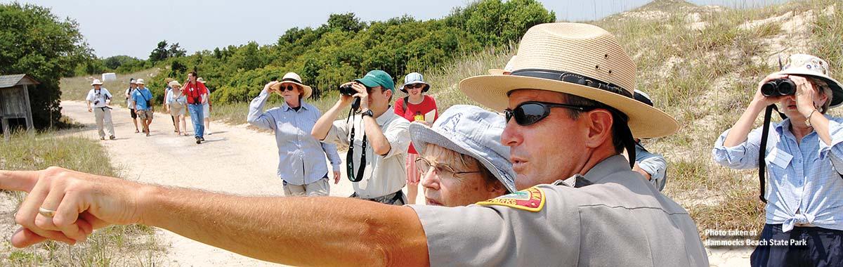 Birding expedition at Hammocks Beach State Park