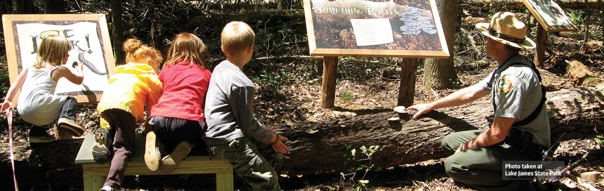 The Discovery Trail at Lake James State Park