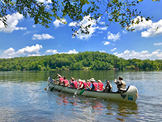 Big canoes at Morrow Mountain State Park