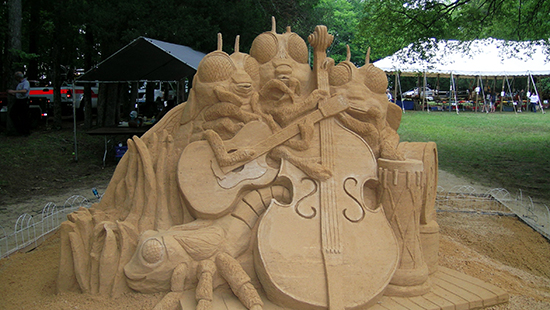 Eno River Festival sand sculpture. Photo by D. Cook.