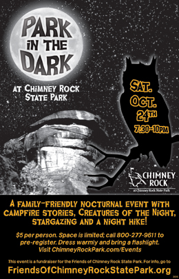 Park in the Dark Halloween family event