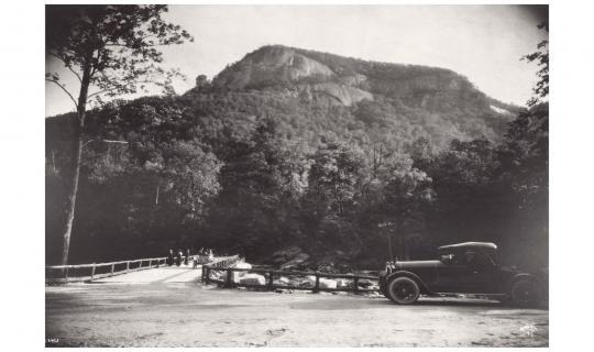 Chimney Rock and Bridge 1920s