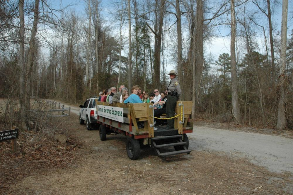 Wagon Rides at Dismal Swamp State Park