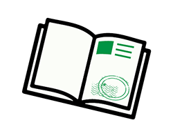 Graphic - Passport Instruction - Get stamp