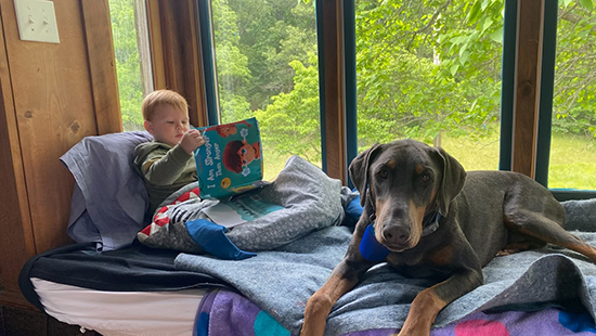 Supt. Jess Phillips' son and their family dog