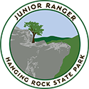 Junior Ranger patch – Hanging Rock State Park