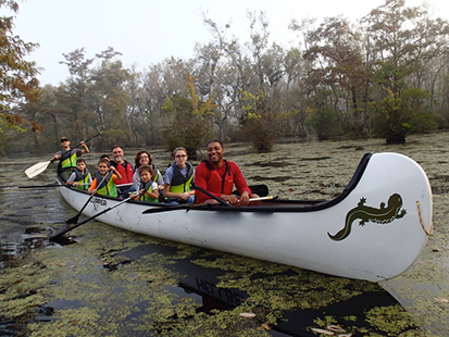 Junior Ranger Jamboree 2018 canoeing at Merchants Millpond State Park