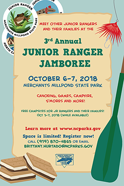 Junior Ranger Jamboree 2018 poster