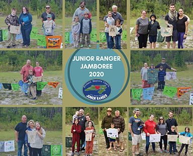 2020 Junior Ranger Jamboree Participant Photo Collage, Jones Lake State Park, Elizabethtown, NC