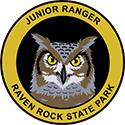 Junior Ranger patch – Raven Rock State Park