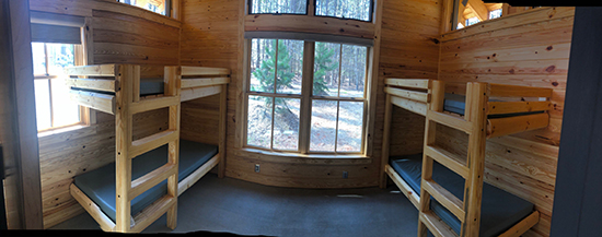 Bunk room in cabin at Lake Norman State Park. Photo by S. Avis.