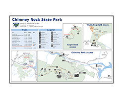 Chimney Rock State Park map screenshot