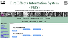 NC State Parks – Year of Fire – Fire Effects Information System