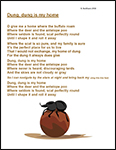 Screenshot of the Dung, Dung Is My Home Poem worksheet