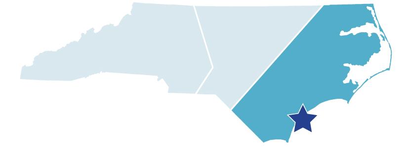 Map of North Carolina – Carolina Beach State Park