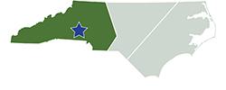Map of North Carolina – Crowders Mountain State Park