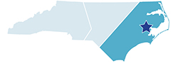 Map of North Carolina – Goose Creek State Park